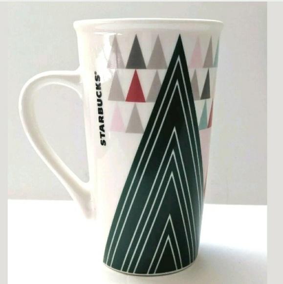 Starbucks Kitchen Starbucks Tall Coffee Mug 6 Oz Triangle Pattern Poshmark